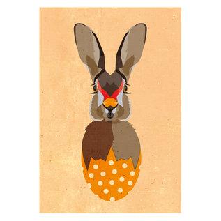 di014 | Daria Ivanovna | Rabbit - postcard A6