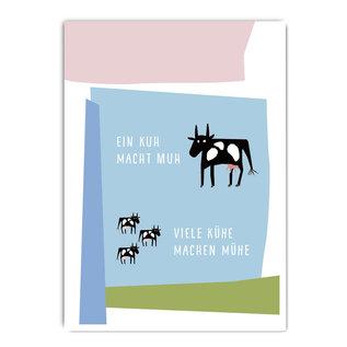 fzpa051 | Pastellica | Eine Kuh macht muh... - Postkarte A6