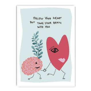 fzpa055 | Pastellica | Follow your heart... - Postcard A6