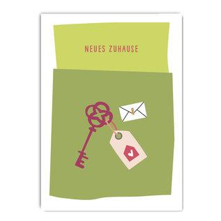 fzpa063   Pastellica   Neues Zuhause - Postkarte A6