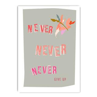 fzpa064 | Pastellica | Never never never give up - Postkarte A6