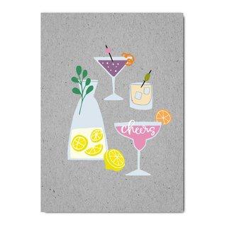 fzgc054   Gray-Code   Cheers - postcard  A6