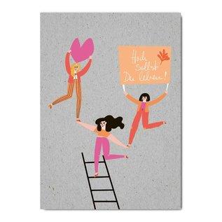 fzgc055   Gray-Code   Hoch sollst du leben! - postcard  A6