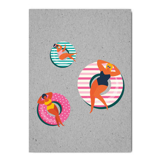 fzgc061 | Gray-Code | Schwimmreifen - Postkarte  A6