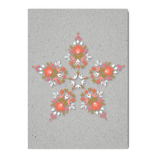 fzgc062 | Gray-Code | Graphicflower Kaleidoscope - postcard  A6