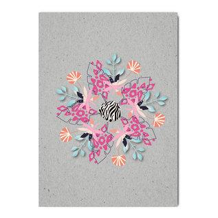 fzgc064 | Gray-Code | Animalprint Kaleidoscope - postcard  A6