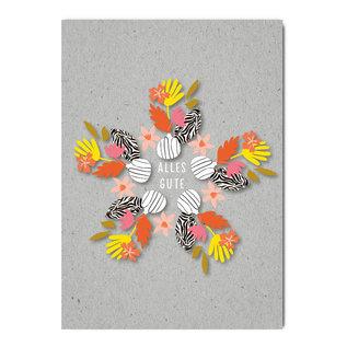 fzgc065 | Gray-Code | Summerflower Kaleidoskop - Postkarte  A6