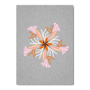 fzgc056 | Gray-Code | Flower Kaleidoscope - postcard  A6