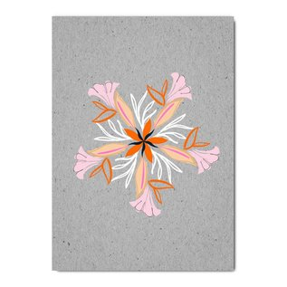 fzgc056 | Gray-Code | Flower Kaleidoskop - Postkarte  A6