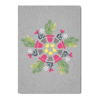 fzgc057 | Gray-Code | Plants Kaleidoscope - postcard  A6