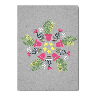 fzgc057   Gray-Code   Plants Kaleidoskop - Postkarte  A6