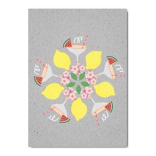 fzgc058   Gray-Code   Party Kaleidoskop - Postkarte  A6