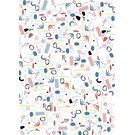 fzgp032 | Geschenkpapier | Objekte blaugrün