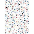 fzgp032 | Gift Paper| Objects bluegreen
