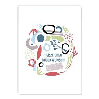 fzcb003 | Celebration | Herzlichen Glückwunsch - Postcard A6