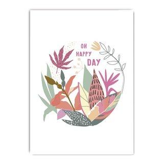 fzcb004   Celebrate   Oh happy day - Postkarte A6