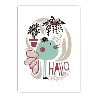fzcb008 | Celebrate | Hallo  - Postkarte A6