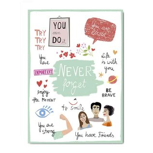 Make your day fzmd001 | Make your Day | Never forget - Postkarte A6