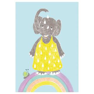 sg232 | schönegrüsse | rainnbow elefant  - postcard A6