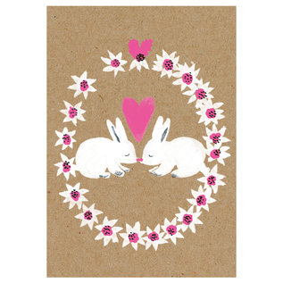 sg235 | schönegrüsse | rabbits friendship - postcard A6