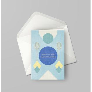 df400 | Designfräulein | Herzlichen Glückwunsch Goldfolie - double card C6