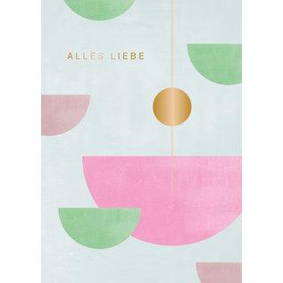 df403 | Designfräulein | Alles Liebe goldfoil - double card C6