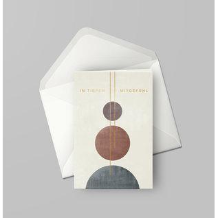 df407   Designfräulein   In tiefem Mitgefühl goldfoil - double card C6