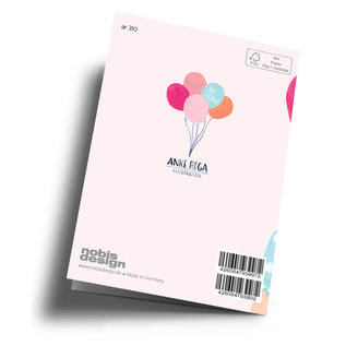 ar310 | Anke Rega | Birthday Girl Balloon - Klappkarte C6