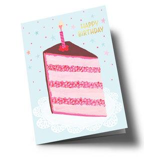 ar311 | Anke Rega | Birthday Cake - double card C6
