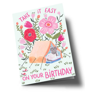 ar312 | Anke Rega | Take it easy on your Birthday - Klappkarte C6
