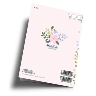 ar314 | Anke Rega | Birthday Kisses to you - Klappkarte C6