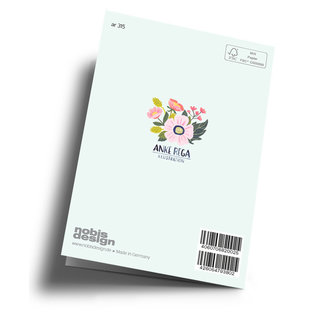 ar315 | Anke Rega | Strauß - Viel Glück - double card C6