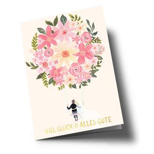 ar318 | Anke Rega | Hochzeit - Viel Glück - double card C6