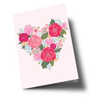 ar320   Anke Rega   Flowerheart Love - Klappkarte C6