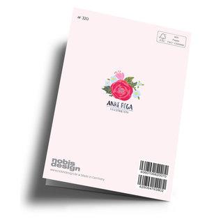 ar320 | Anke Rega | Flowerheart Love - double card C6