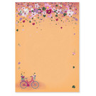 mi552 | m-illu | Bicycle Flowers - Notepad A5