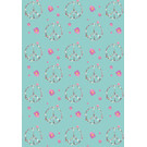 mi705 | m-illu | Peace Flowers - wrapping paper