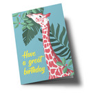 ha345 | happiness | Giraffe - double card
