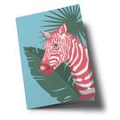 ha346 | happiness | Zebra - Klappkarte
