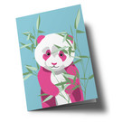 ha350 | happiness | Panda bear - double card
