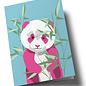 ha350 | happiness | Panda bear - double card