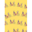 mi709 | m-illu | Bicycle Yellow - wrapping paper