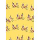 mi709 | m-illu | Fahrrad Gelb - Geschenkpapier