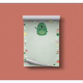 df501 | Designfräulein| Monster grün - Schreibblock A6