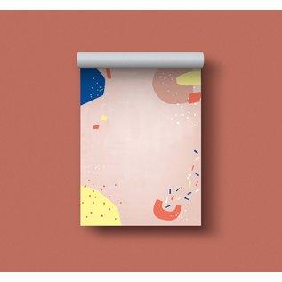 df503 | Designfräulein| Muster rosa- Schreibblock A6