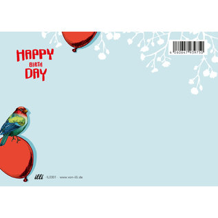 il0301 | illi | Palino Happy Birthday - Postkarte A6