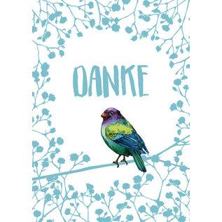 il0302   illi   Zinni Danke - postcard  A6
