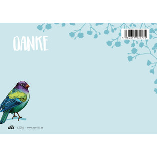 il0302 | illi | Zinni Danke - Postkarte A6