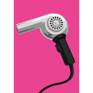 dc007   Design Classics   hair dryer- Postkarte A6