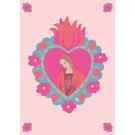 ha037 | happiness | Flaming Heart Madonna